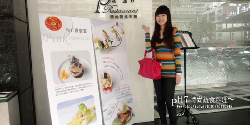 【台北美食】:PH7時尚蔬食料理 ~一家超級時尚的法式