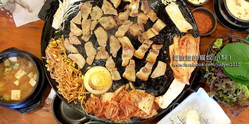 【韓國建大美食】豚窯돈가마烤肉店\建大入口站,吃烤肉戒不掉的視覺享受,就是要滿滿一桌才過癮啊!