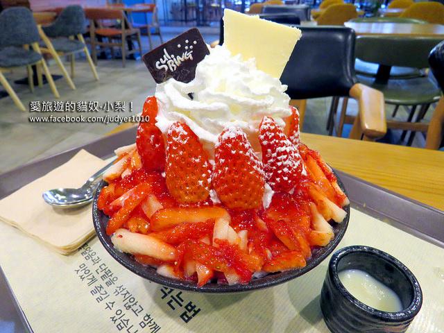 草莓雪冰(明洞店)\韓劇《皮諾丘(匹諾曹) 》劇中美食,草莓雪冰超好吃!