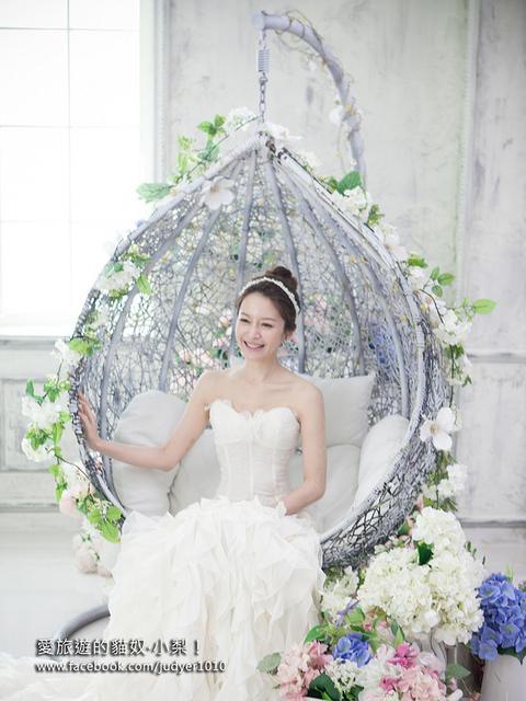 【韓國婚紗初體驗】:攝影棚篇\HEBA,讓我百看不膩、超級驚豔的婚紗照分享^0^(也可以拍單人的韓風藝術照哦!)
