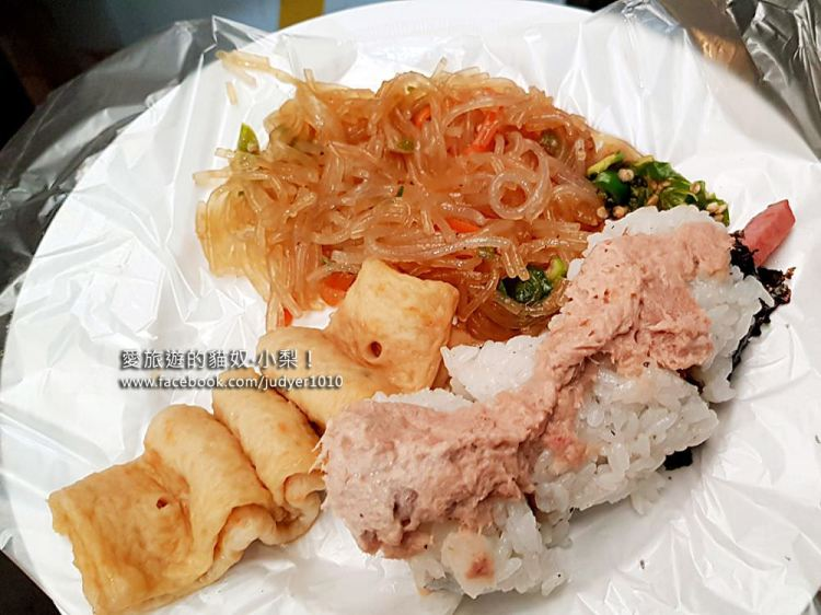 廣藏市場美食\裸起司鮪魚飯捲+雜菜只要2500韓圜,白鐘元三大天王推薦美食!