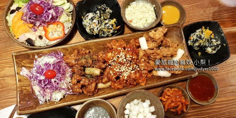 釜山西面美食\包著吃雞舍(炸雞),有飯有熱湯有沙拉,中午還提供一人份套餐,大推!
