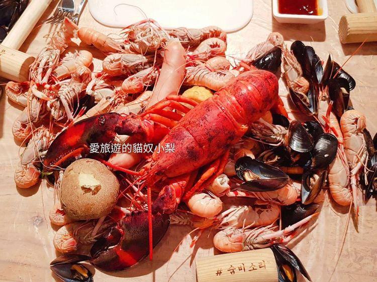 釜山美食\海女的呼吸,清蒸濟州龍蝦海鮮桶超澎湃,廣安里及西面都吃得到!