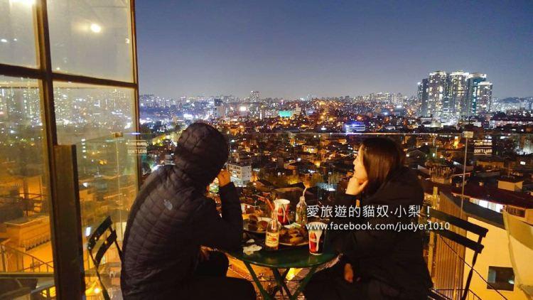 首爾解放村美食\The 100 Food Truck漢堡店,一覽梨泰院美景!