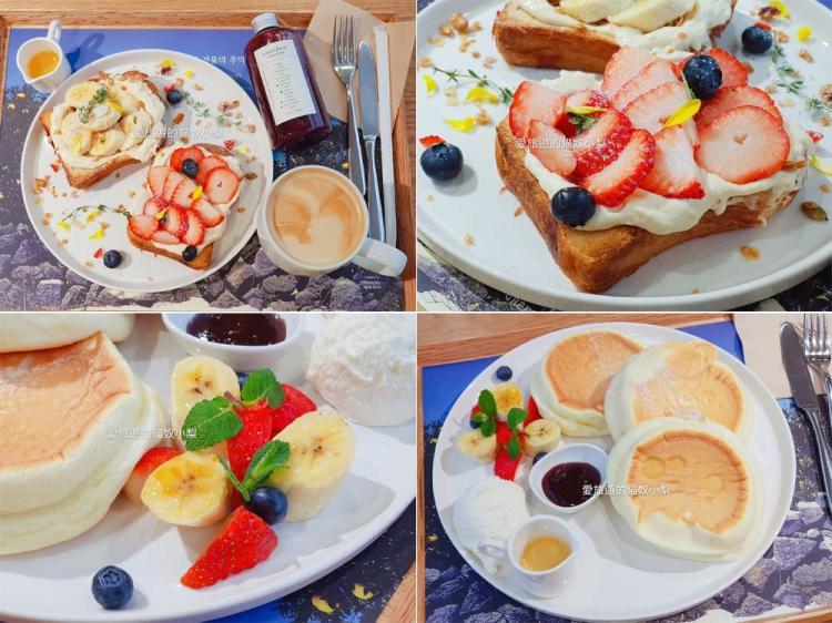 明洞美食\Innisfree Green Cafe,舒芙蕾鬆餅好吃,4樓可免費寄放行李!