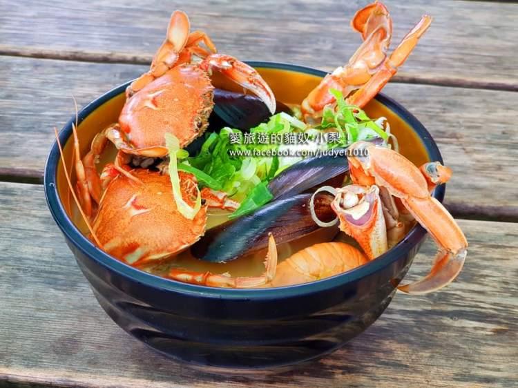 濟州島美食\NOLMAN海鮮拉麵,春日咖啡廳旁的超人氣螃蟹海鮮湯麵!