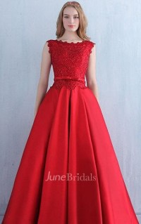 Red Lace Vintage Prom Evening Lace Bridesmaid Bridal Gown ...