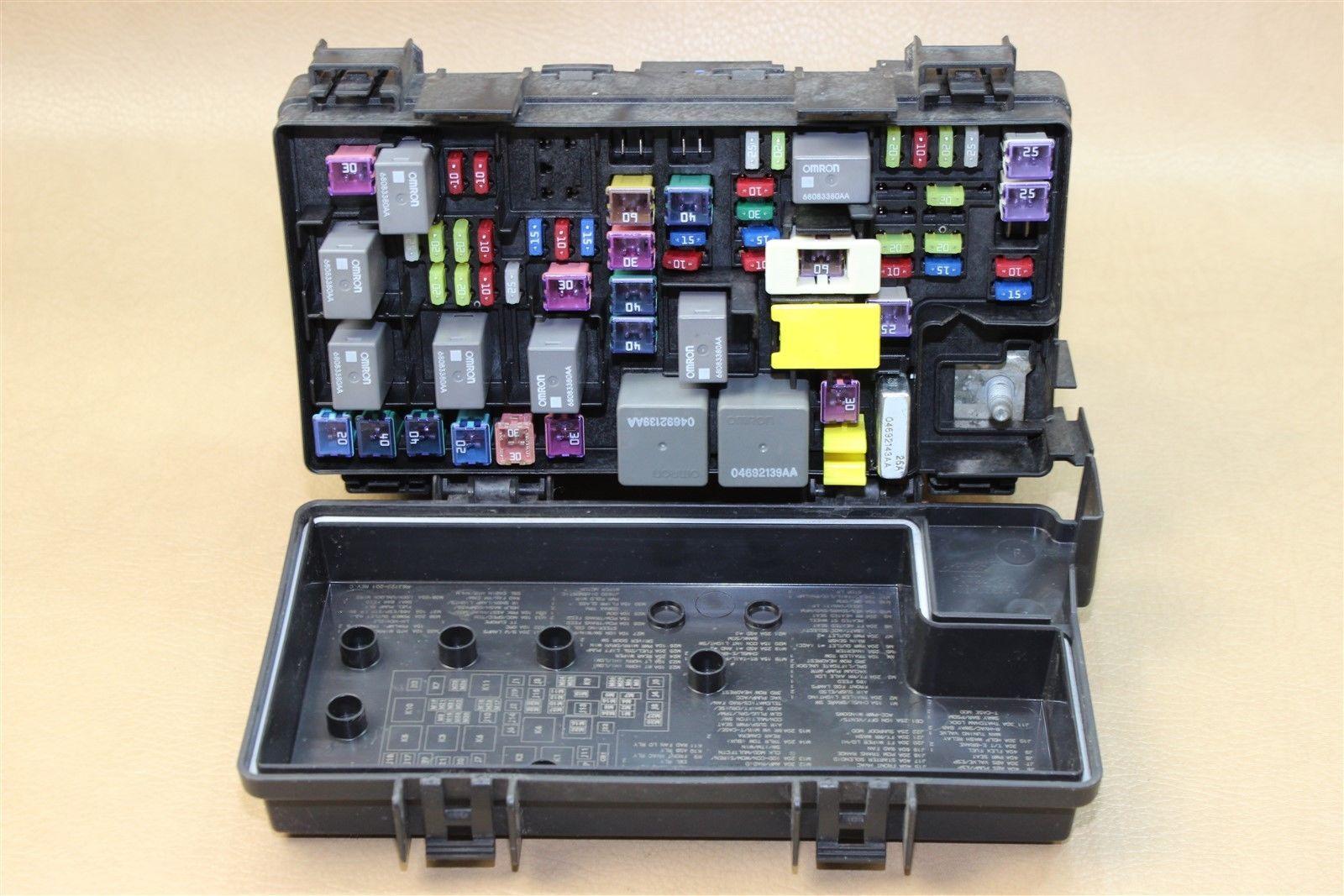 hight resolution of reman 2011 wrangler 3 8l tipm temic integrated fuse box module 04692332ae oem does not apply