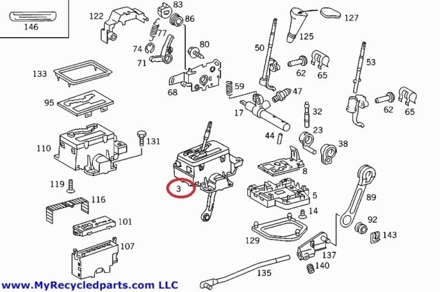 Mercedes W202 Automatic shifter 5 speed transmission