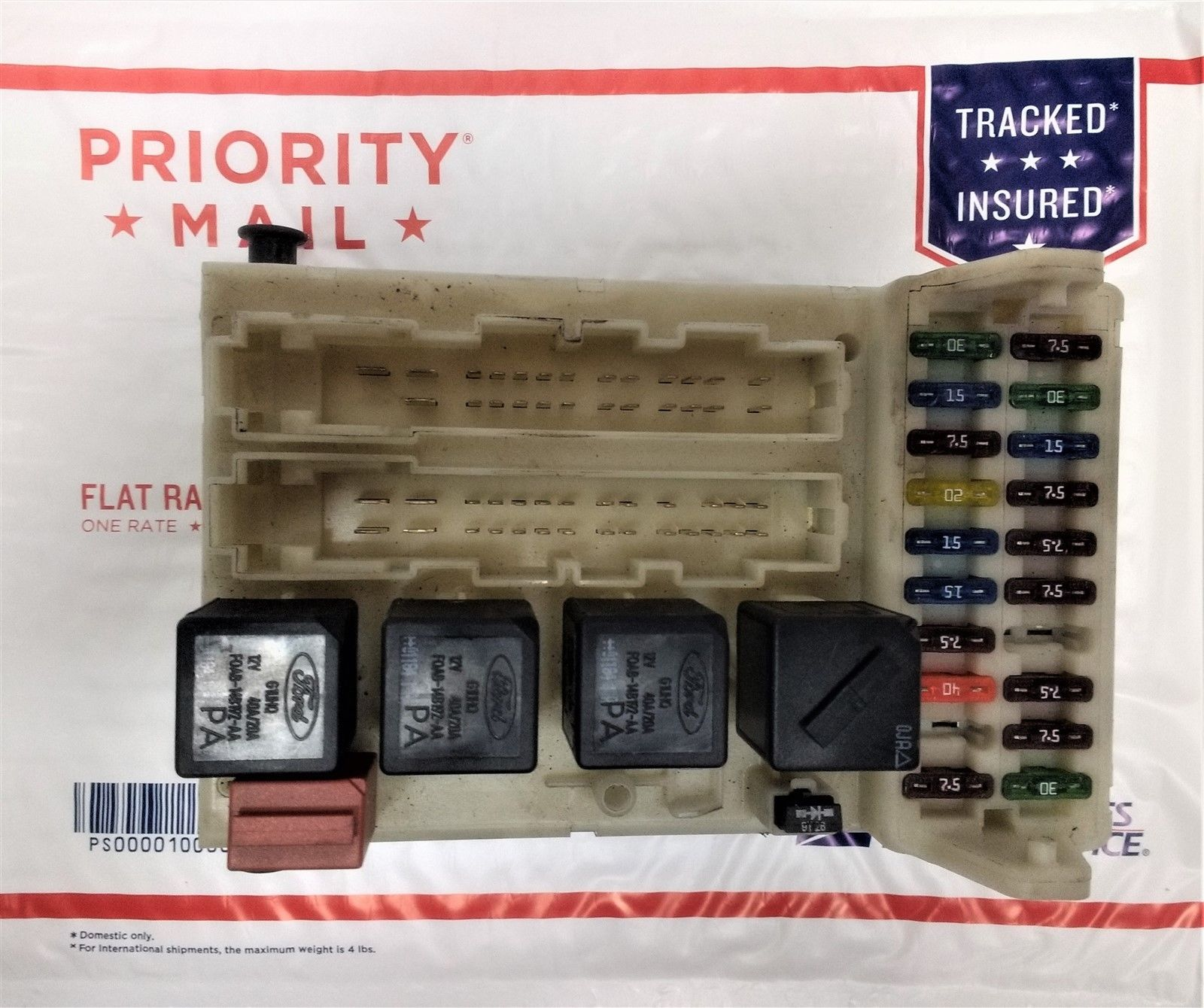 hight resolution of 01 02 ford mercury cougar fuse box relay junction module oem 98bg 14a073