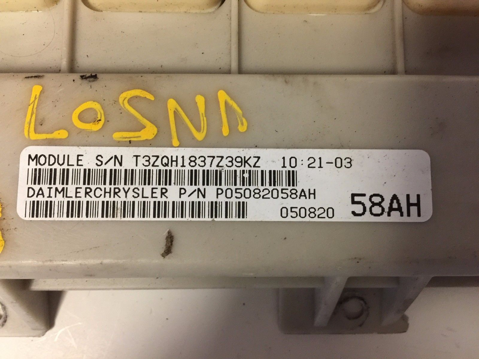 hight resolution of 2008 chrysler pacifica bcm body control module oem p05082058ah p05082058ah
