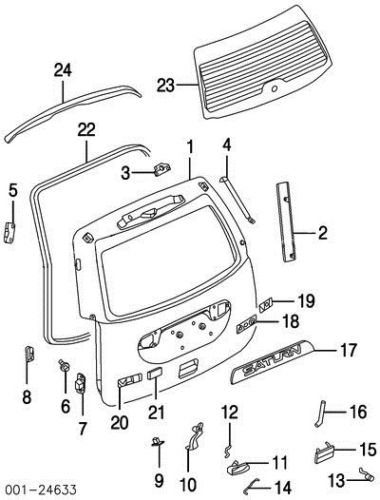 25824166 03 Saturn VUE tailgate liftgate latch assembly 02
