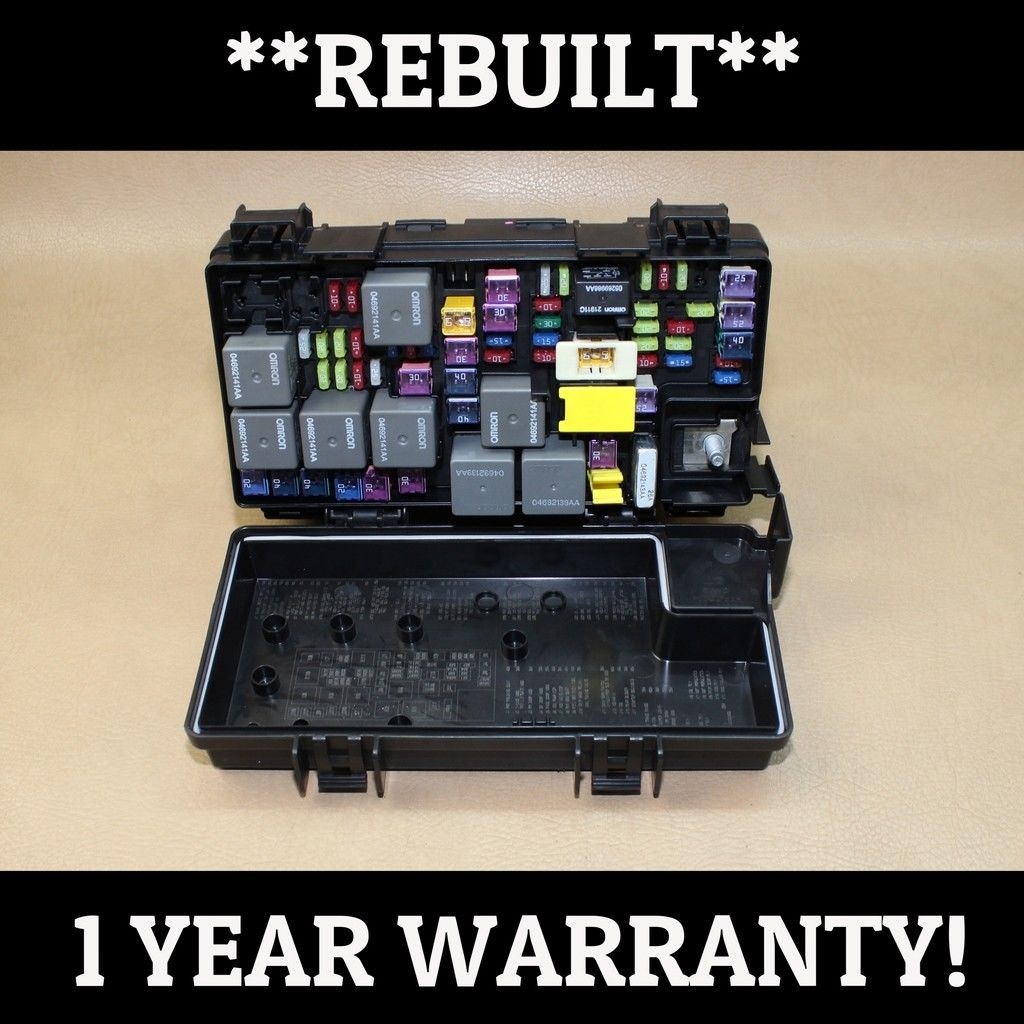 hight resolution of reman 09 jeep wrangler 3 8l tipm temic integrated fuse box module 04692289ac oem does not
