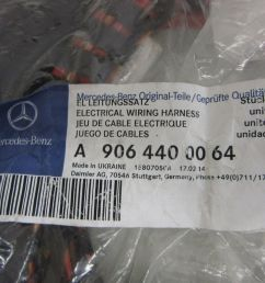 new oem mercedes sprinter 906 rear hitch electrical wiring harness 9064400064 9064400064 [ 1600 x 1200 Pixel ]