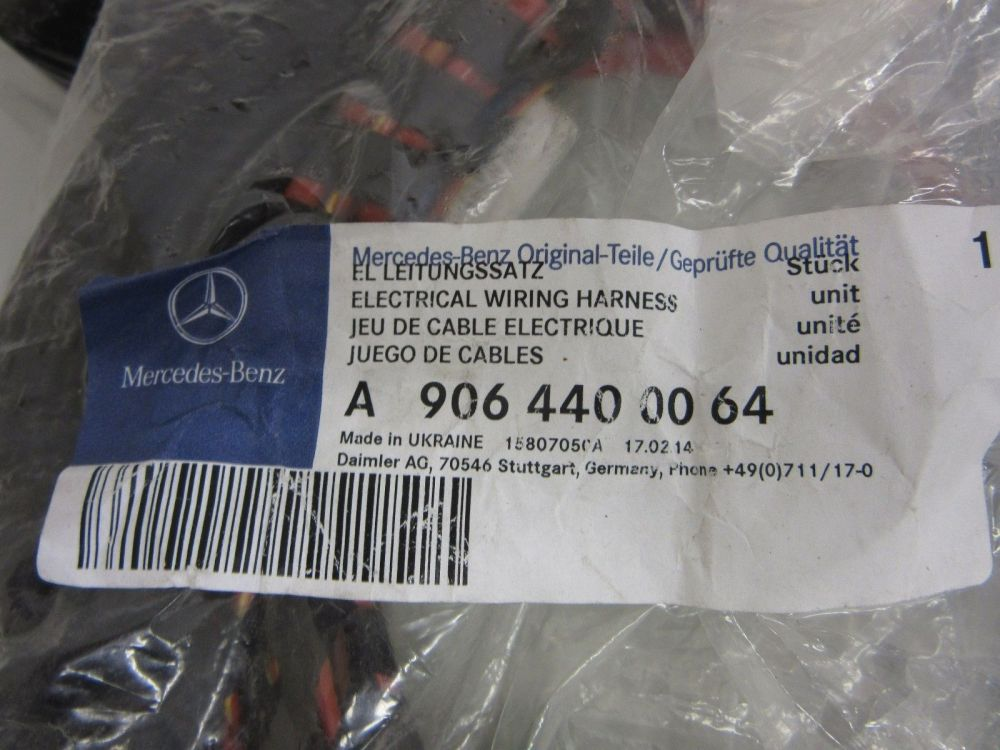 medium resolution of new oem mercedes sprinter 906 rear hitch electrical wiring harness 9064400064 9064400064