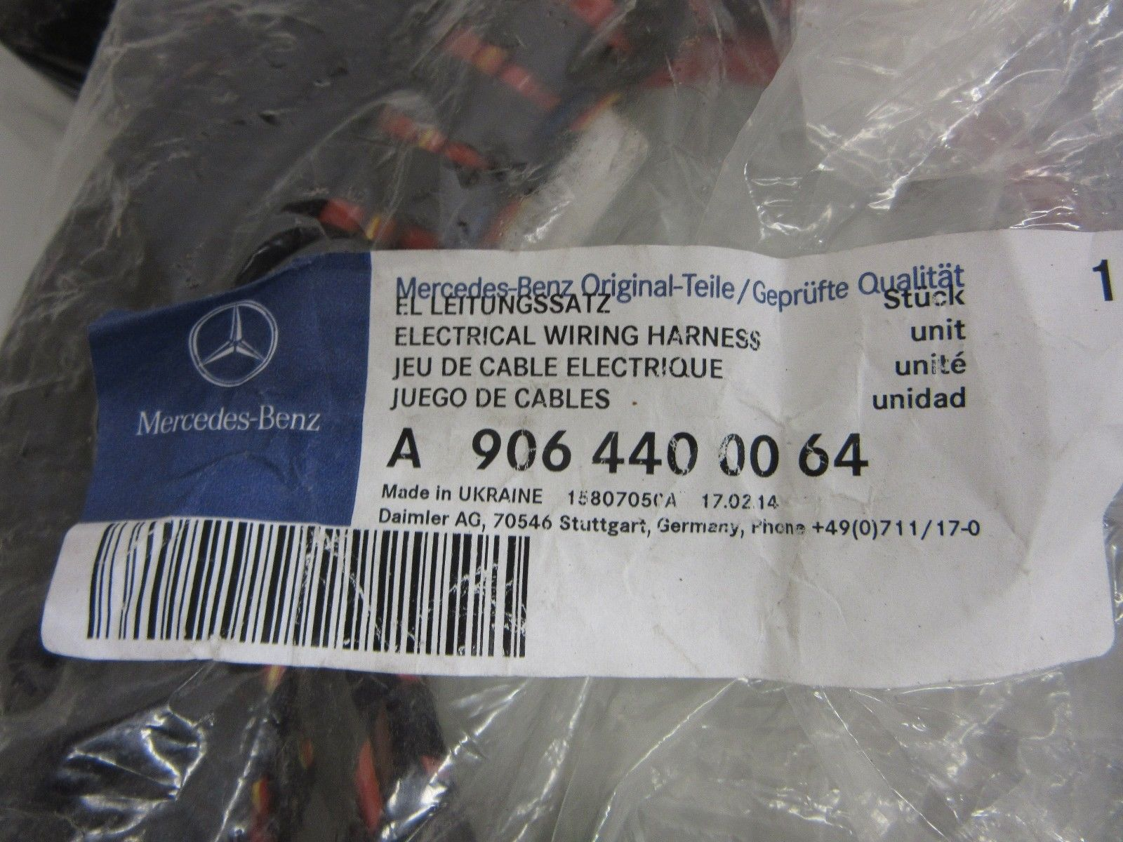 hight resolution of new oem mercedes sprinter 906 rear hitch electrical wiring harness 9064400064 9064400064