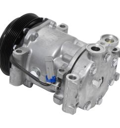 new ac compressor and clutch 1996 1999 chevy gmc pickup suburban tahoe 5 0 5 7 [ 1500 x 1500 Pixel ]