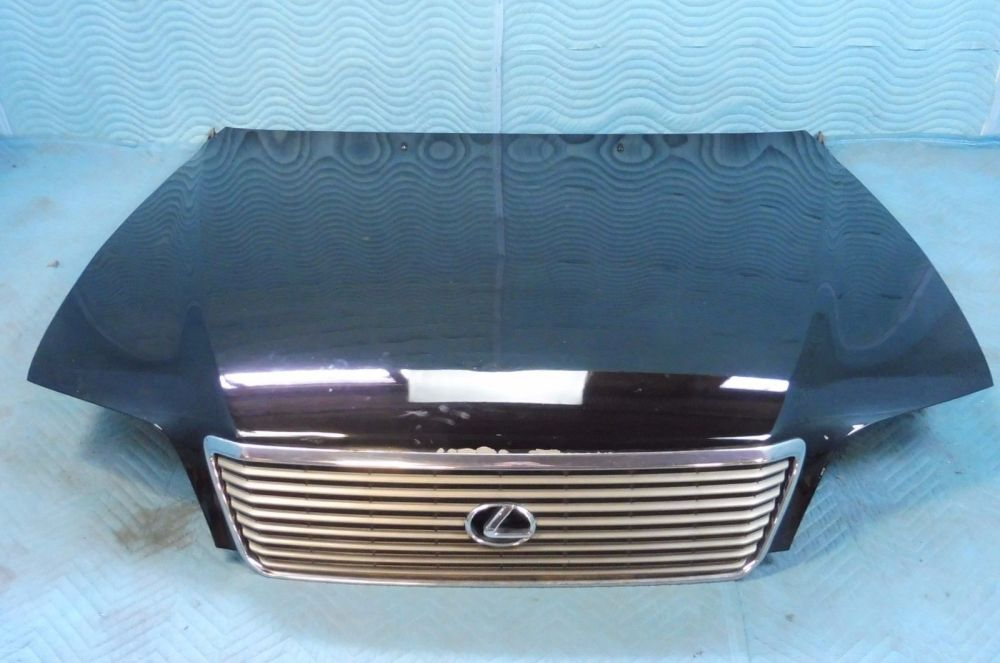 medium resolution of 1998 2000 lexus ls400 hood w grille insulator hinges black 202
