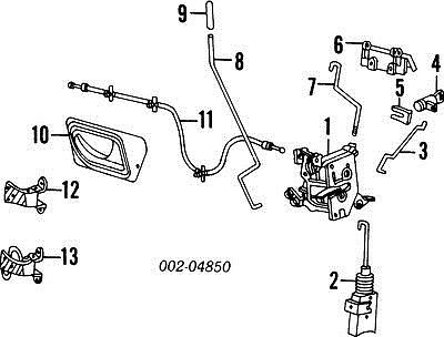 F37Z10221A00A Front Door Latch Inside Handle Cable 93 Ford
