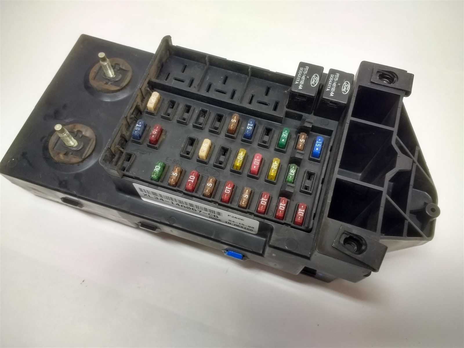 hight resolution of 99 03 ford f150 f250 dash fuse box relay junction module with gem xl34