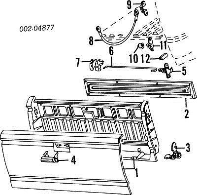 1986 Ford F 150 Tailgate Parts Diagram • Wiring Diagram