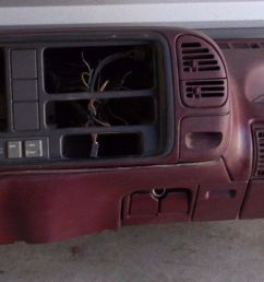 1995 1999 chevy gmc truck tahoe suburban dash core frame assembly maroon trim dashboard assembly [ 1555 x 526 Pixel ]
