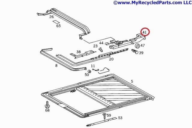 Mercedes W202 Sunroof angle right 2027801212 , 2027801212