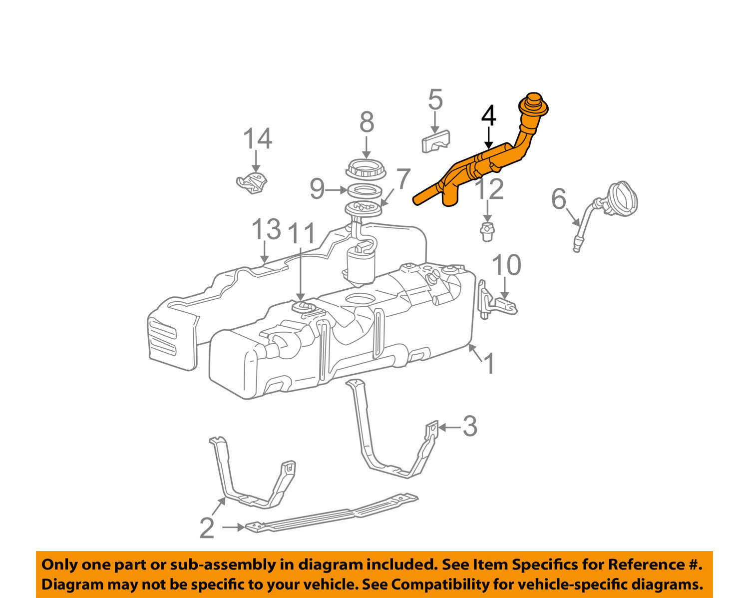 hight resolution of new oem ford f 250 super duty 6 0l fuel tank filler tube pipe 8c3z9034rd