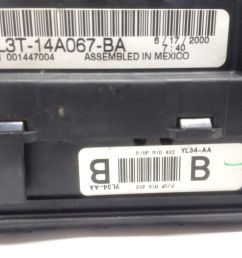 99 04 ford f150 interior dash fuse box junction with gem oem yl3t 14a067 [ 1600 x 1200 Pixel ]