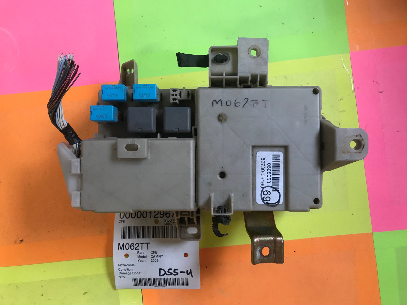 hight resolution of 05 toyota camry dash cabin fuse box 82730 06160 oem m062t 82730 06160