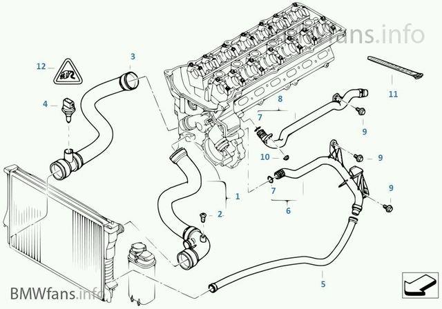 โอริงข้อต่อท่อหม้อน้ำรถ BMW E46 : N42, N46, M52, M54 E90