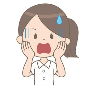 ひどく驚いた表情の看護師のイラスト🎨【フリー素材】|看護roo![カンゴルー]