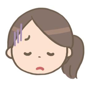 落ち込む看護師のイラスト※顔のみ🎨【フリー素材】 看護roo![カンゴルー]