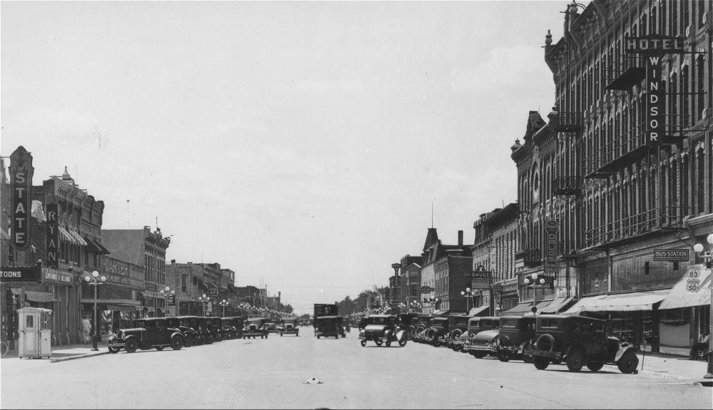 Main Street Garden City Kansas Memory Kansas Historical Society