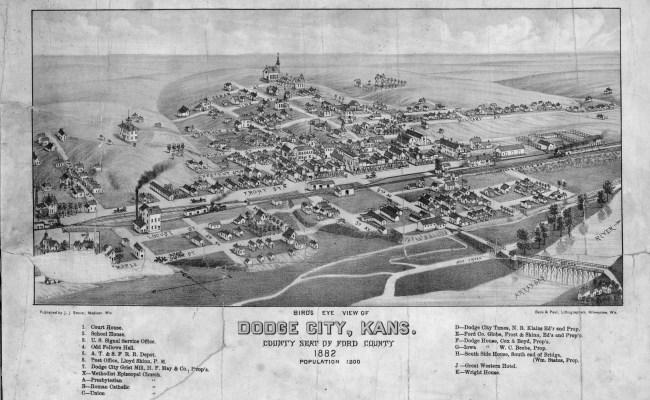 Bird S Eye View Of Dodge City Kansas Kansas Memory Kansas Historical Society