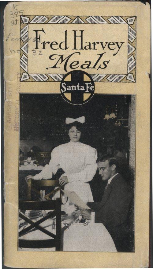 Fred Harvey meals Santa Fe Railway  Kansas Memory