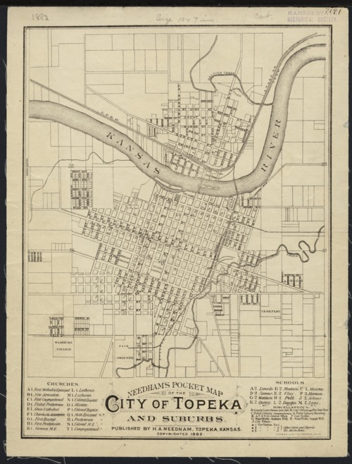 Needham39s pocket map of the city of Topeka and suburbs