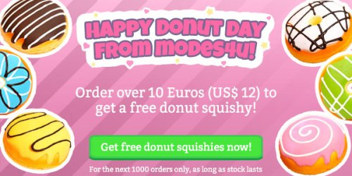 Get a FREE donut squishy with your order!