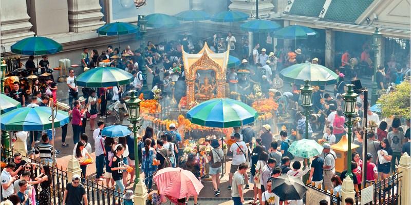 泰國曼谷必去景點 | 四面佛(BTS Chit Lom站)參拜須知及拍攝全景最佳位置。