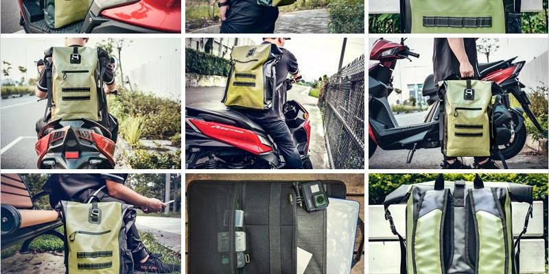 防水後背包開箱   bagrun 氣彈系列巔峰防水背包-100%防水材質、容量大,機車通勤族、水上活動必備的防水後背包。