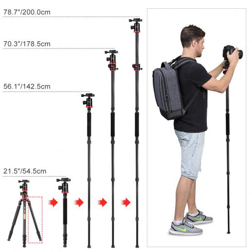K&F Concept TM2534T Lightweight Compact Tripod for Canon