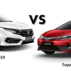 All New Corolla Altis Vs Civic Grand Avanza Olx เท ยบสเปค Honda 2018 2019 ก บ Toyota ร น
