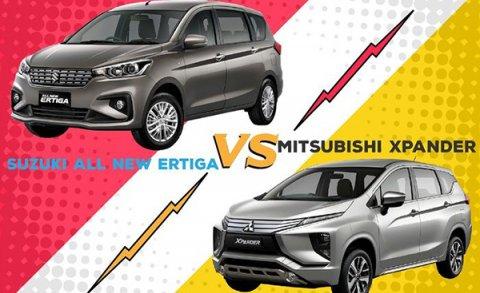 grand new avanza vs mitsubishi xpander 2016 type g เปร ยบเท ยบ 2018 2019 ก บ suzuki ertiga