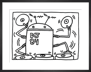 Fun Gallery Exhibition 1983 Art Print by Keith Haring