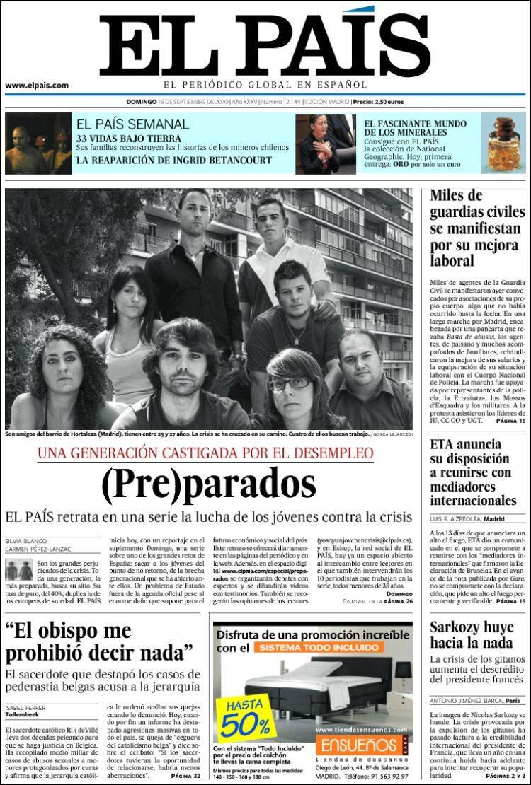 Their elegant football mesmerised chile's top league in the 1960s. Portada del periódico El País (España). Todos los