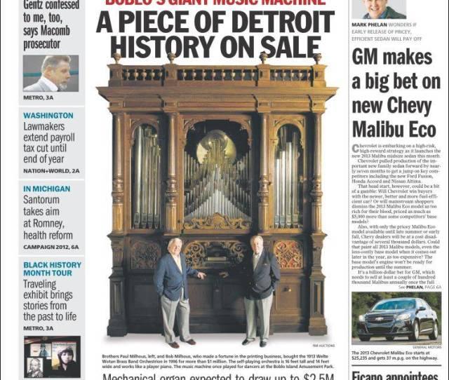 Portada De Detroit Free Press Usa