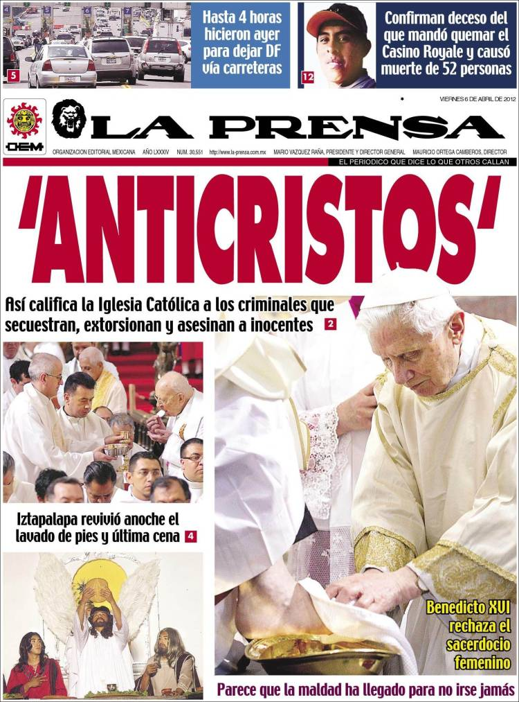 Portada de La Prensa (México)