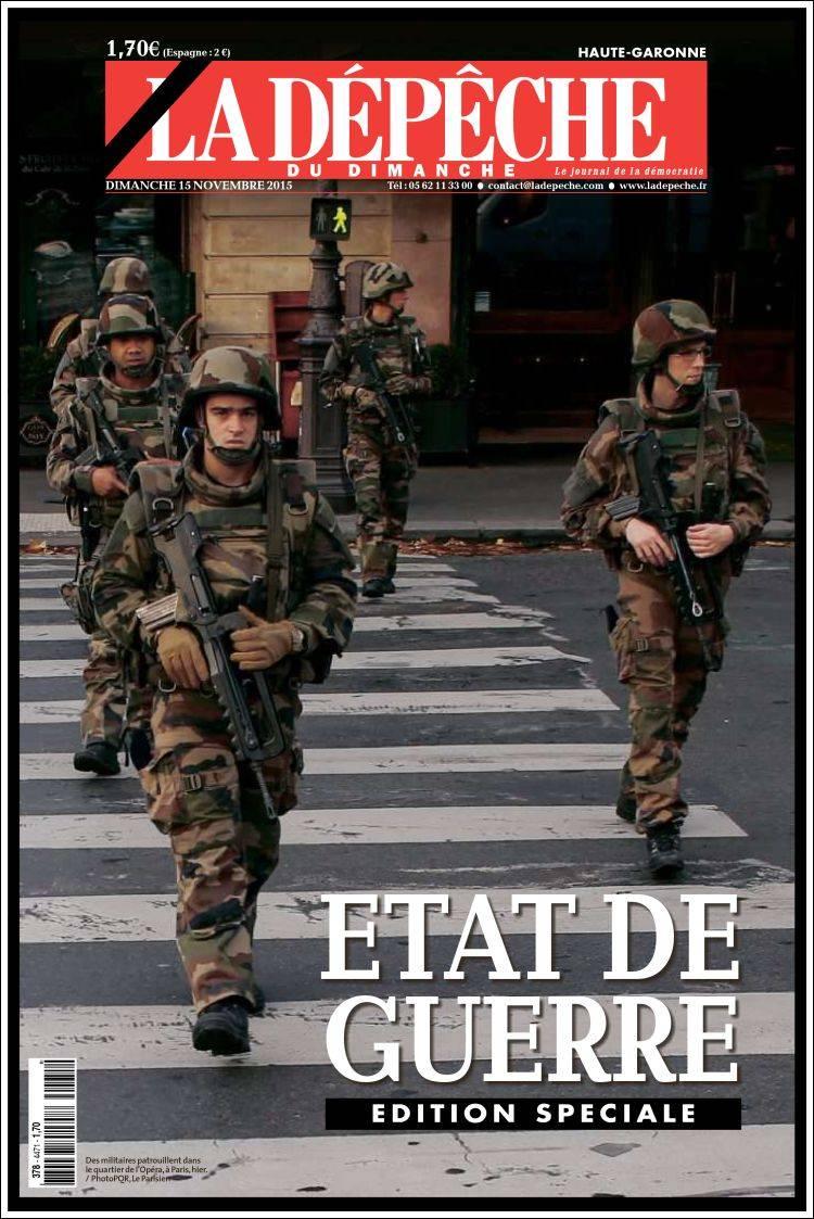 Portada de La Dépêche du Midi (Francia)