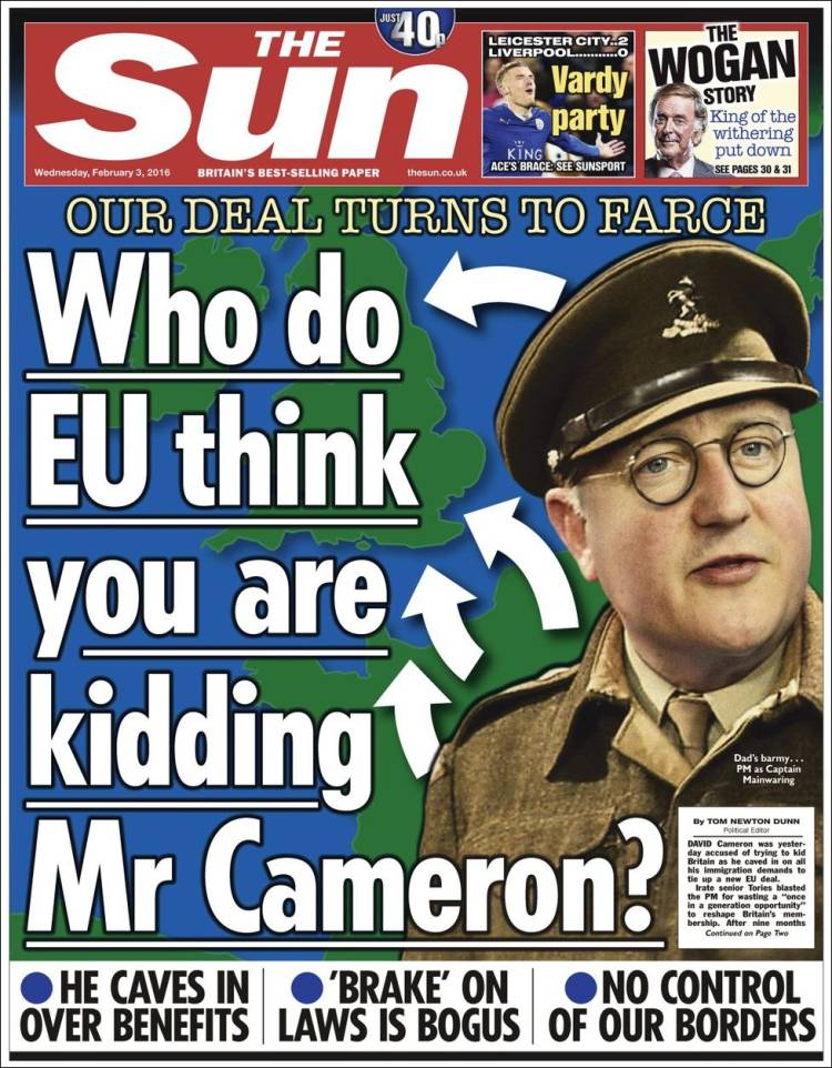 Portada de The Sun (United Kingdom)