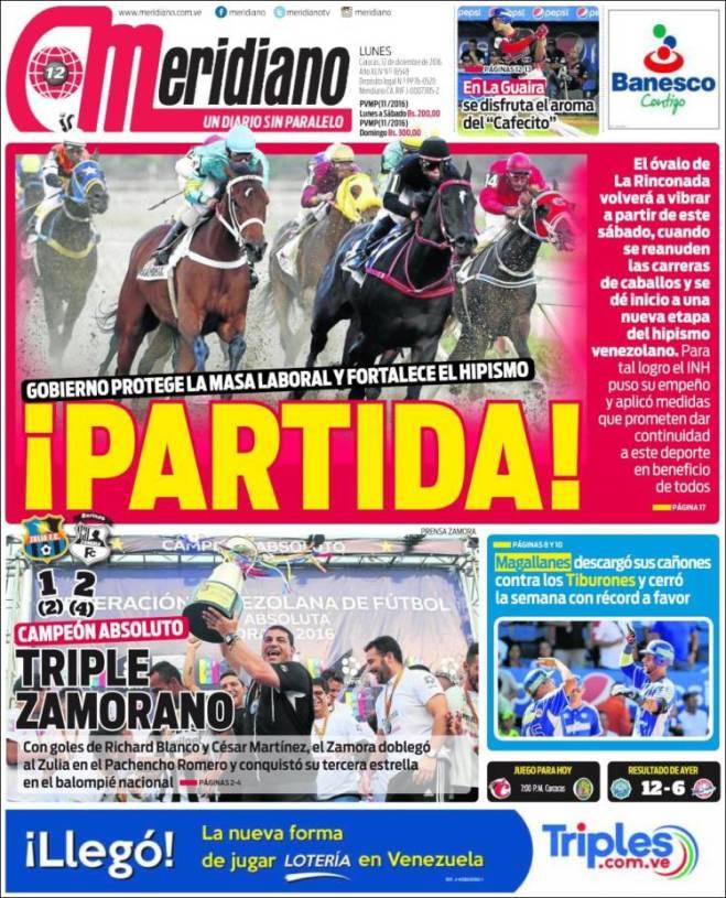 Portada de Meridiano (Venezuela)
